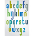 Colorful animated font comic lower case letters vector image vector image
