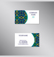 creative business card with absract ornament vector image vector image