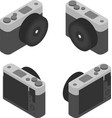 digital camera in isometric view from four sides vector image vector image