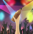 disco night party concert vector image vector image