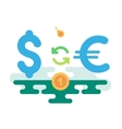 Dollar Euro Currency Exchange vector image vector image