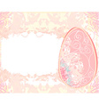 Easter Egg On Grunge Background card vector image vector image