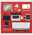 Flat Design Architecture Tool vector image vector image