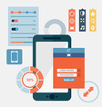 Flat design concept for app development with