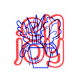 hand draw flowerpot icon in doodle style for your vector image