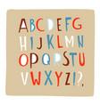 hand drawn doodle font alphabet letters abc upper vector image