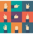 Hands flat icon vector image