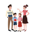 happy family cartoon icon vector image vector image