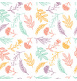 herbal sketch detox seamless pattern colorful vector image