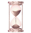 hourglass rose gold vector image