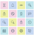 internet icons set collection of safeguard bell vector image vector image