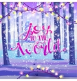 Joy to the world on winter background vector image vector image