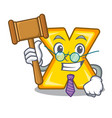 judge multiply sign icon isolated on mascot vector image