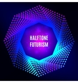 Light frame Futuristic technology style halftone vector image vector image
