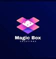 logo magic box gradient colorful style vector image