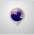 map navigation pointer with cayman islands flag vector image