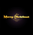 merry christmas star golden color word text logo vector image vector image