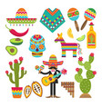 mexican symbols design template of vector image vector image