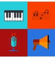 modern flat icons set vector image