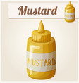 mustard cartoon icon vector image vector image