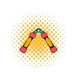 Nunchaku weapon icon comics style vector image vector image