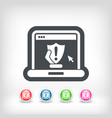 pc protection vector image vector image