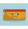 pencil case funny character isolated icon design vector image vector image