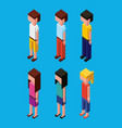 people character avatar isometric vector image