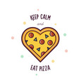 pizza in the form of heart vector image