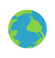 planet earth icon vector image vector image