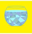 Polygonal aquarium Card vector image