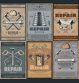 repair service and work tools vector image