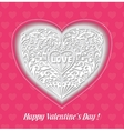 Romantic Background with a Heart vector image vector image