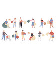 shoppers male and female customers flat vector image