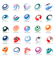 spiral movement and rotation vector image vector image