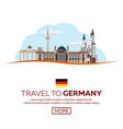 travel to germany berlin poster skyline vector image vector image