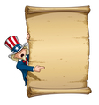Uncle Sam Pointing at Declaration vector image vector image