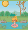 vacations and summer outdoor time vector image vector image