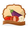 vegetables fresh food healthy poster vector image vector image