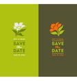 Wedding graphic set with elegant flowers vector image
