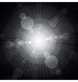 White shining circles and stars gray background vector image vector image