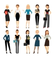 Women in office clothes vector image vector image