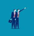 young business people taking selfie concept vector image