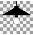 black bulb icon vector image