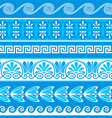 Decorative greek borders vector image