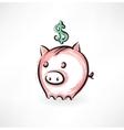 moneybox grunge icon vector image