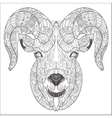 Ornamental head of goat or ram vector image