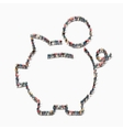 people piggy bank finance icon vector image