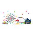 amusement park banner vector image