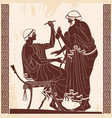 ancient greek drawing vector image vector image